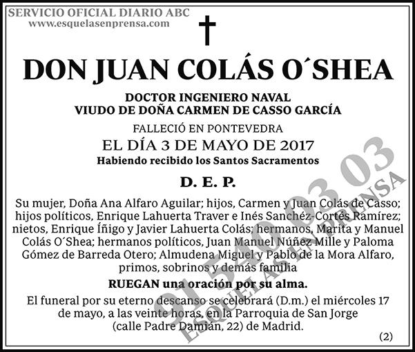 Juan Colás O´Shea